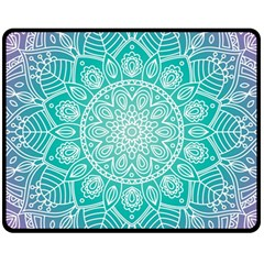 Colorful Mandala Fleece Blanket (medium)  by tarastyle