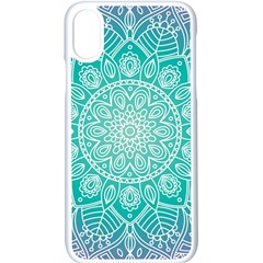 Colorful Mandala Apple Iphone X Seamless Case (white)