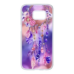 Luxury Design Samsung Galaxy S7 Edge White Seamless Case by tarastyle