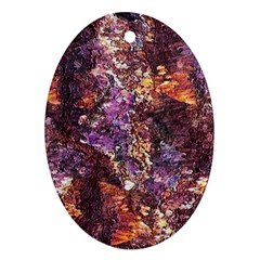 Colorful Rusty Abstract Print Ornament (oval)