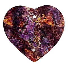 Colorful Rusty Abstract Print Ornament (heart)