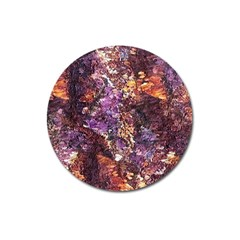 Colorful Rusty Abstract Print Magnet 3  (round)