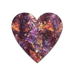Colorful Rusty Abstract Print Heart Magnet by dflcprintsclothing