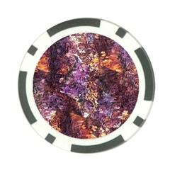 Colorful Rusty Abstract Print Poker Chip Card Guard by dflcprintsclothing