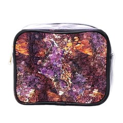 Colorful Rusty Abstract Print Mini Toiletries Bag (one Side)