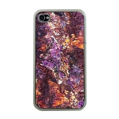 Colorful Rusty Abstract Print Apple Iphone 4 Case (clear)