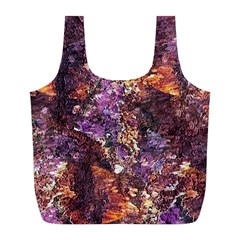 Colorful Rusty Abstract Print Full Print Recycle Bag (l)