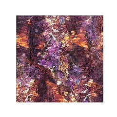 Colorful Rusty Abstract Print Small Satin Scarf (square)