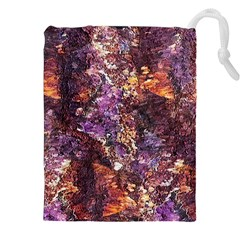 Colorful Rusty Abstract Print Drawstring Pouch (xxl)
