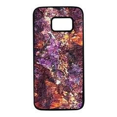 Colorful Rusty Abstract Print Samsung Galaxy S7 Black Seamless Case by dflcprintsclothing