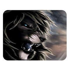 Angry Lion Digital Art Hd Double Sided Flano Blanket (large)