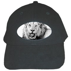 Lion Wildlife Art And Illustration Pencil Black Cap by Sudhe