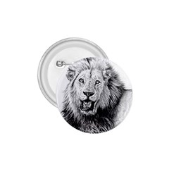 Lion Wildlife Art And Illustration Pencil 1 75  Buttons