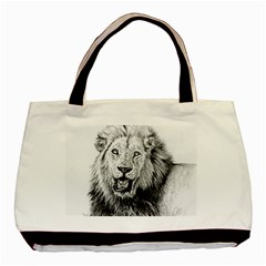 Lion Wildlife Art And Illustration Pencil Basic Tote Bag (two Sides)