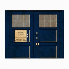 Tardis Poster Small Glasses Cloth