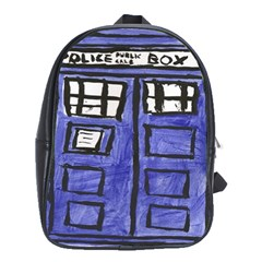 Tardis Painting School Bag (large) by Sudhe