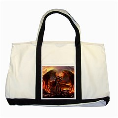 Fantasy Art Fire Heroes Heroes Of Might And Magic Heroes Of Might And Magic Vi Knights Magic Repost Two Tone Tote Bag by Sudhe