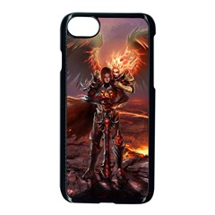Fantasy Art Fire Heroes Heroes Of Might And Magic Heroes Of Might And Magic Vi Knights Magic Repost Apple Iphone 8 Seamless Case (black)