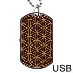 Flower Of Life Dog Tag Usb Flash (two Sides)