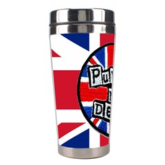 Punk Not Dead Music Rock Uk United Kingdom Flag Stainless Steel Travel Tumblers