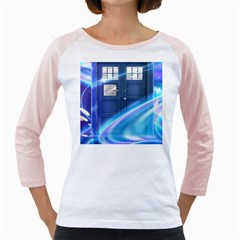 Tardis Space Girly Raglan