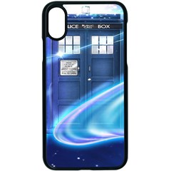Tardis Space Apple Iphone X Seamless Case (black)