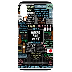 Book Quote Collage Apple Iphone Xr Black Frosting Case