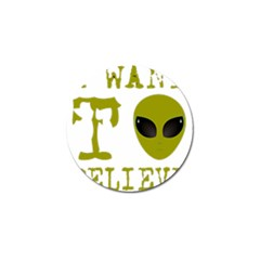 I Want To Believe Golf Ball Marker (10 Pack) by Sudhe