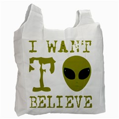 I Want To Believe Recycle Bag (two Side) by Sudhe