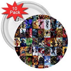 Comic Book Images 3  Buttons (10 Pack)