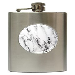 Marble Pattern Hip Flask (6 Oz)