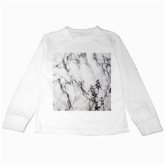 Marble Pattern Kids Long Sleeve T-shirts