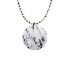 Marble Pattern 1  Button Necklace
