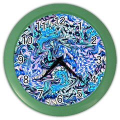 Ml 130 4 Color Wall Clock by ArtworkByPatrick