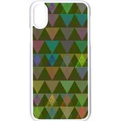 Zappwaits Triangles 2 Apple Iphone Xs Seamless Case (white) by zappwaits