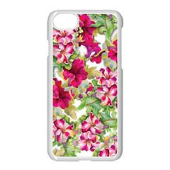 Red Flowers Apple Iphone 7 Seamless Case (white)