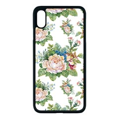 Summer Flowers Pattern Apple Iphone Xs Max Seamless Case (black) by goljakoff