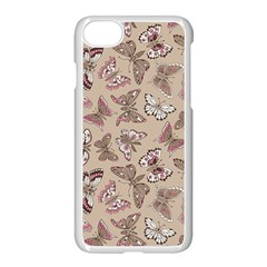 Rose Butterflies Pattern Apple Iphone 8 Seamless Case (white)