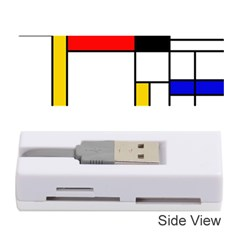 Bauhouse Mondrian Style Memory Card Reader (stick)
