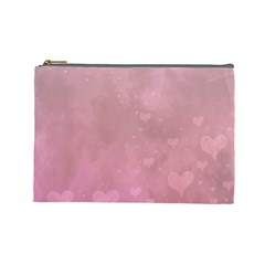Lovely Hearts Cosmetic Bag (large) by lucia