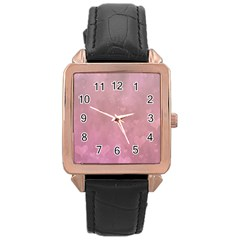 Lovely Hearts Rose Gold Leather Watch  by lucia