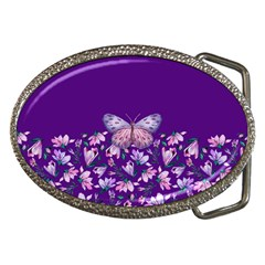 Purple Spring Butterfly Belt Buckles by lucia