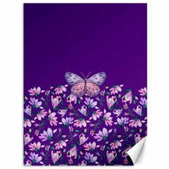 Purple Spring Butterfly Canvas 36  X 48