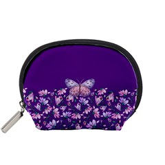 Purple Spring Butterfly Accessory Pouch (small)