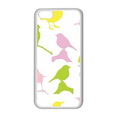 Bird Watching   Colorful Pastel Apple Iphone 5c Seamless Case (white) by WensdaiAddamns