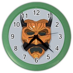 Mask India South Culture Color Wall Clock