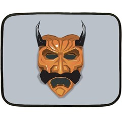 Mask India South Culture Double Sided Fleece Blanket (mini)