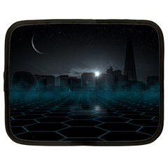 Skyline Night Star Sky Moon Sickle Netbook Case (xxl)