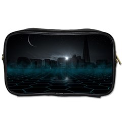 Skyline Night Star Sky Moon Sickle Toiletries Bag (two Sides)