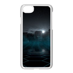 Skyline Night Star Sky Moon Sickle Iphone 8 Seamless Case (white) by Sudhe